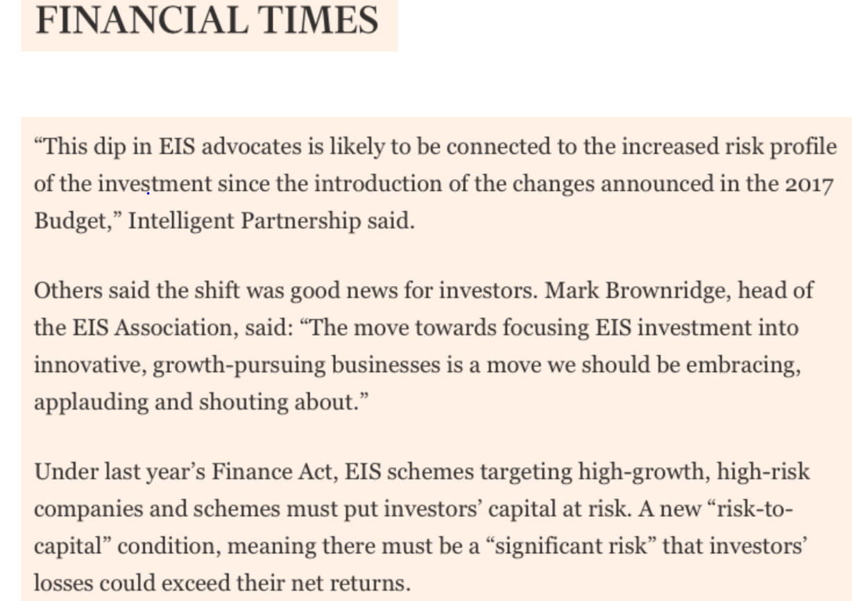 EISA in the Press - FT